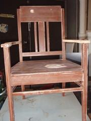 Tuoli hiottuna