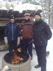 Markku,Jorma ja Heikki evästauolla