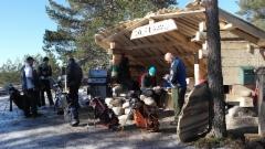 Kierrostuloksia räknäämässä Harri,Henri,Jyrki ja Pekka