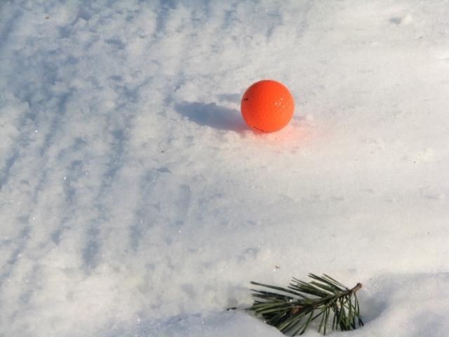 Tämmöistä lyödään talvigolfissa