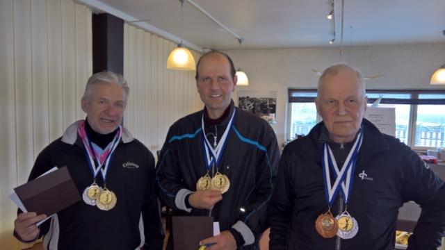 Tupla mestarit HCP ja SCR Jyrki Järventausta, Risto Merkkiniemi ja Hannu Narvi