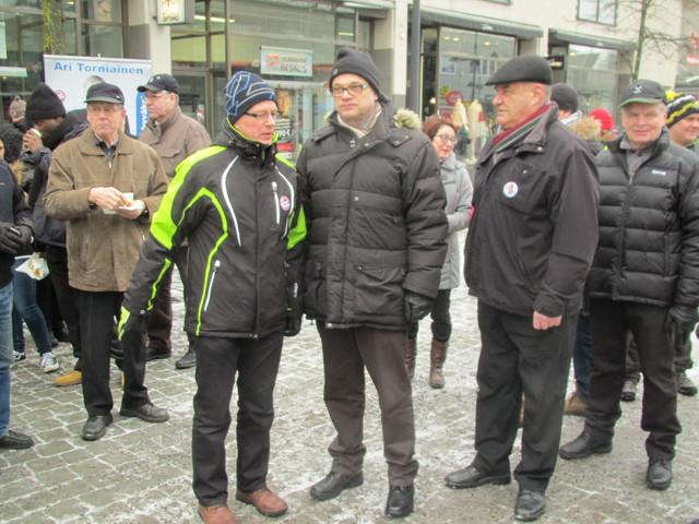 Ari Torniainen, Juha Sipilä ja Tapio Arola
