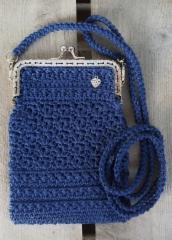 Tummansininen pikkulaukku