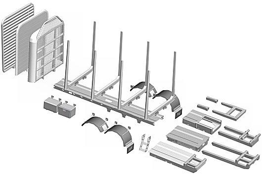 TimberMaxx kootaan laippapulteilla valmiista komponenttipaketista.