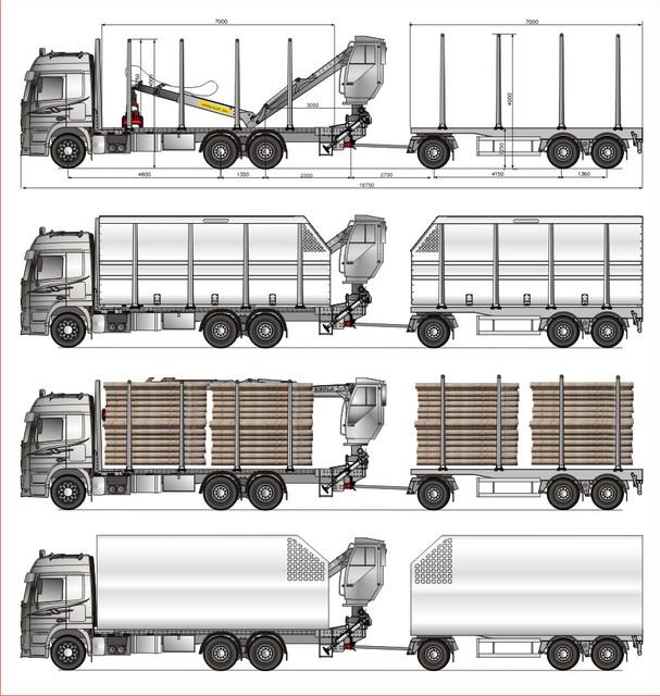 Laitasarjat / Eu : TimberMaxx ja EnergyBoxx. 52 tn 18.75 m.