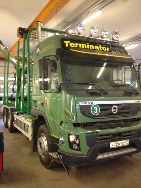 Metkoon tulee myös Pietarin Volvolle menevä uusi Volvo FMX TimberMaxx varusteilla ja Terminator XXL pankoilla