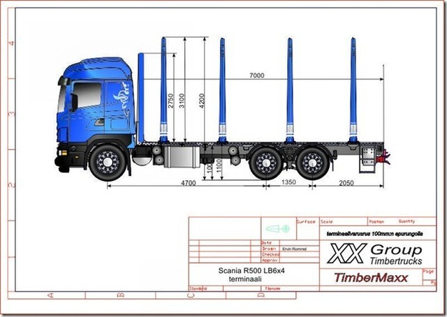 Scanian siirtoautoon saa tolppakorkeutta nykykorkeusmitoilla 3100!!!!!!