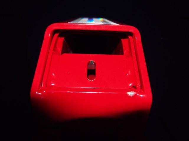 Tolpan sisävahvike on samantyylinen, kun millä alutolppia on jouduttu jälkivahvistamaan. Holkinpätkä holkin sisässä.