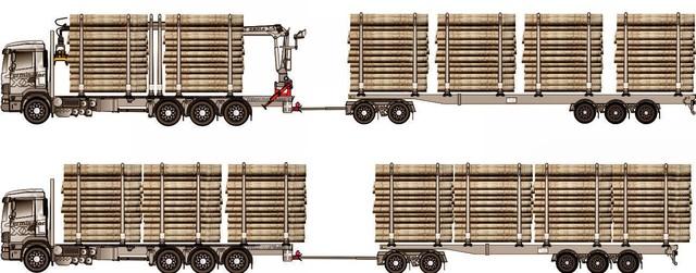 76 tonnisen puutavarajunan 54 tonnin kantavuus pystytään hyödyntämään maksimoimalla lastatun puutavaran pituusmitta sekä kuormapinta-ala.