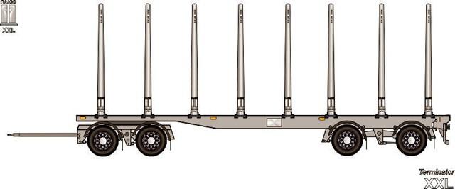 Perinteiseen 10 metriseen puutavaravaunuun voidaan asentaa  edullisesti lisäakseli .