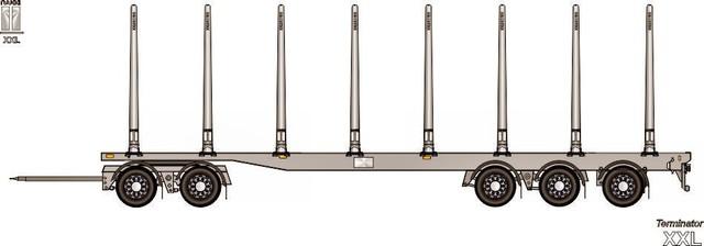 Lisäakseli neliakseliseen ja pidennys 10 m to 12.5m.