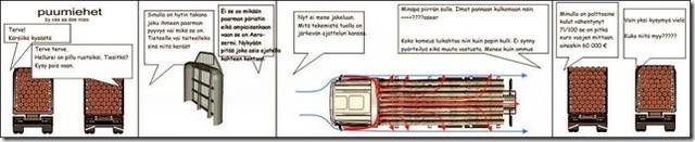 Puutavara-auton aeroseinän kehitti Heikki Jokela yhteistyökuppaneineen (Liikenneministeriö,Rautaruukki,Weckman) jo vuonna 1986 !!!