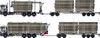 12 metrinen auto ja sen 10 metrinen kuormatila sekä 11.4 m perävaunu antavat matalina ja Terminator XXL pankoilla suurimman mahdollisen kuljetustilan kolmimetriselle kuidulle,