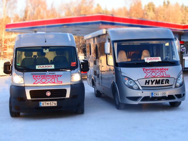 XX Express kalusto vahvistui.Ducato tavarankuljetuksiin ja esittelypankkojen kuljetuksiin tehdaskiertueilla ja Hymer on tarjoiluvaunu ja kiertävä kauppahuone.