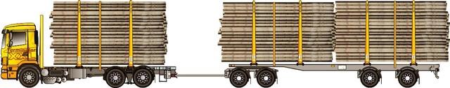 Kantavuutta ja kuormatilaa. 64 tonninen nosturihydrauliikalla.