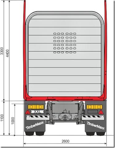 Terminator XXL pankon kuormatilanmuoto kuormattuna. Pankon tolppakorkeus kuvassa 3.3 m ja runkoleveys 2.60m.
