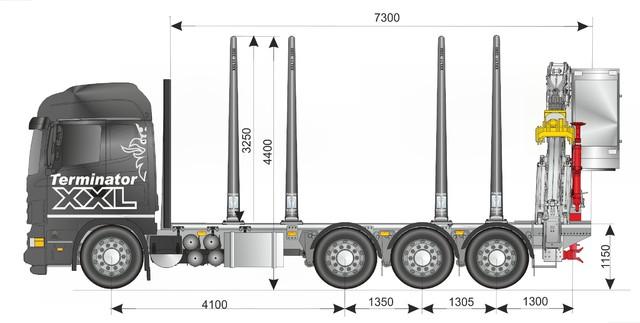 35 tonnin kokonaispainoinen vetoauto hytillisellä Z nosturivarustuksella. Weckmanin varusteet ja teline sisäänajettavaa mallia.