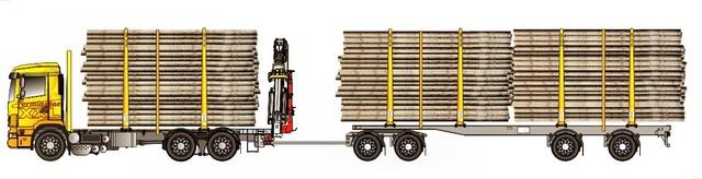 64 tonninen Z nosturiasennuksella. Nosturi irrotettavaa mallia.