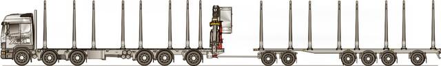 Kaksi akselia vetäviä telissä ja edessä hydraulivetojärjestelmät.
