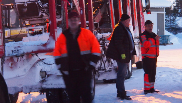 Kemijärvi 8.2.2015 - lumikuorma.