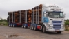 76 tonninen tukkikuormassa