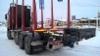 TrippeliMersu 35 tonnin kokonaispainolla. Suomen pohjoisin puutavara-auto on Kuttasessa.