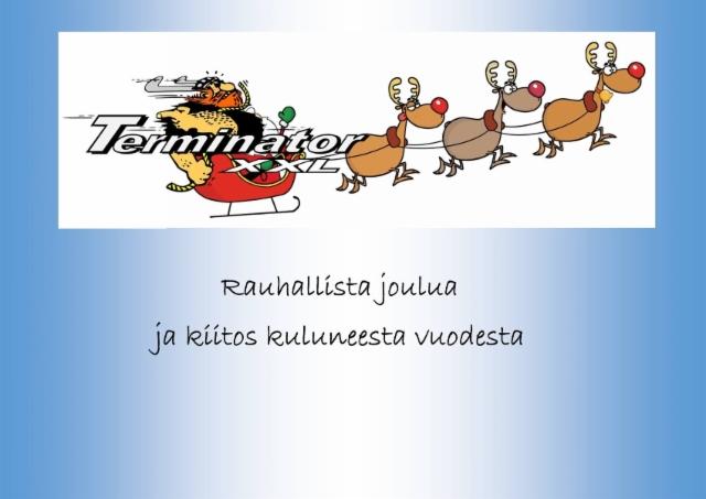 Rauhallista Joulua ja kiitos kuluneesta vuodesta 2016