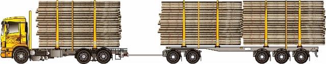 Suomessa toimiva , hyvä paketti ja erittäin kilpailukykyinen , varsinkin Ruotsin 70 tonnin korotetuin painoin.