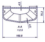 Terminator XXL 8.8 CE poikkileikkaus tolpan alapään tarkistuspisteestä.