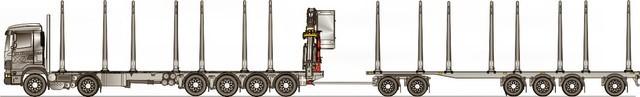Kuormaa 75 tonnia ja kuormatilavuutta 210 m3 (kehyskuutiota).