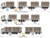 Siirtoautoja Tr 2020 paketissa vaunuineen on yksi, kaksi, tai kolme.