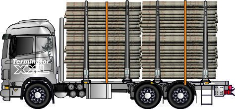 Siirtoauton kokonaispaino 25,tai 28 tonnia, riippuen tarpeesta.