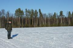 Vielä lunta pellolla