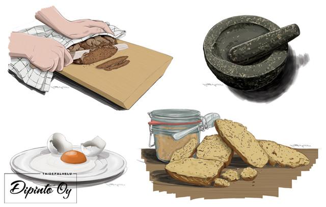 Leipäkirjan kuvia 1 (Maahenki)