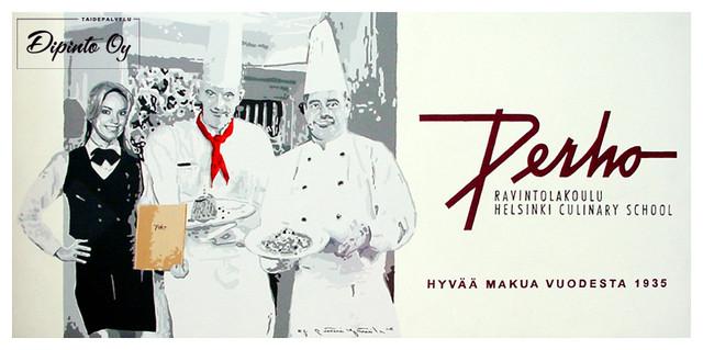 Ravintola Perhon seinämaalaukset 10