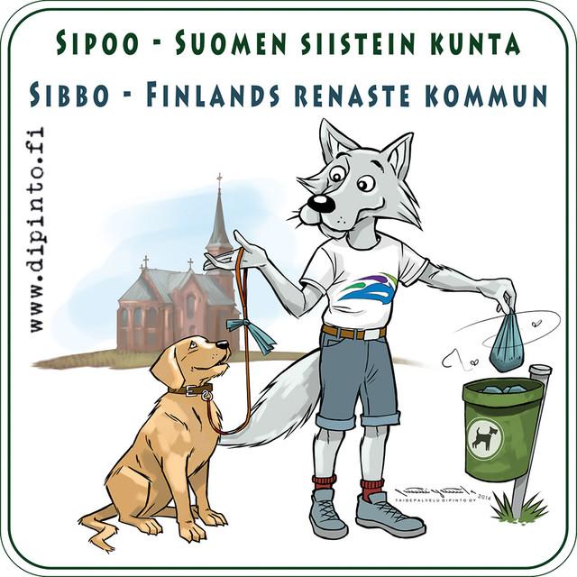 Koirankakkatarra Sipoon kunnan roskiksiin 2014