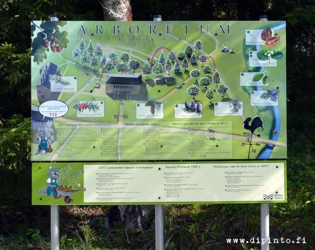 Arboretumin aluekartta