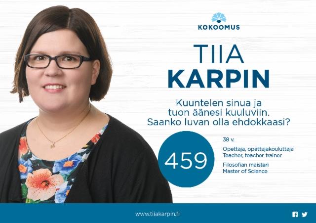 Tiia Karpin flyer