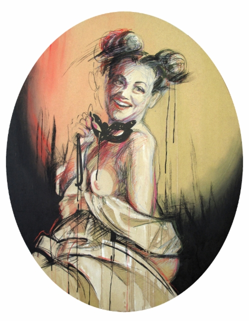 """Mademoiselle Comedy"" 120x94 cm, 2014"
