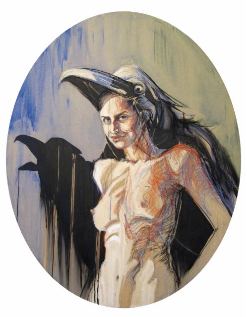 """Lady Ravén"", 120x94 cm, 2014"