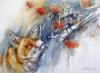 """""""Ketunhäntä kainalossa / Temptation"""", 52x73cm, 2015"""