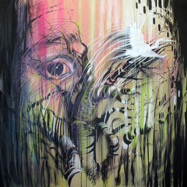 """Kevät /Spring"", 140x140 cm, 2013"