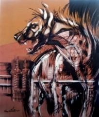 """Hyeenakortteli"", 111x95 cm, 2009"