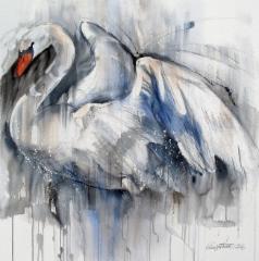 """Valkea purje / White Sail"", 80x80cm, 2016"