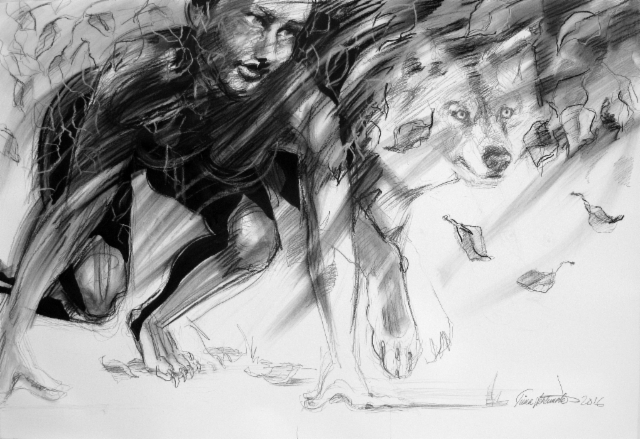 """Sudenmorsian / Bride of the Wolf"""", 70x100cm, 2016"