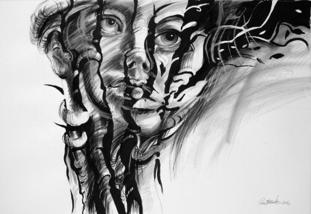 """Metsän Valtiatar /Lady of the Wood"", 70x100cm, 2016"