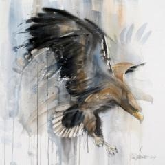 """Siivenisku korkeuksista / Wings of Heaven"", 80x80 cm, 2017"