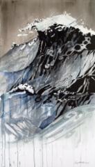"""Seitsemäs aalto / Seventh wave"", 130x75 cm, 2017"