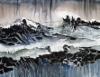 """""""Nollapiste / Origo"""", 90x115 cm, 2017"""