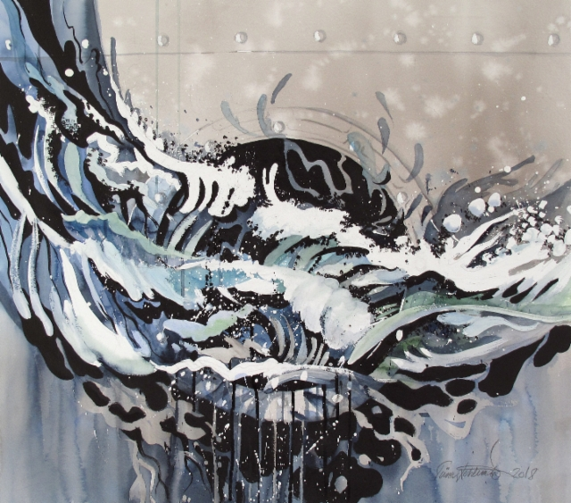 """Ikkuna merelle / Window to the sea"", 2018, 72x80cm"